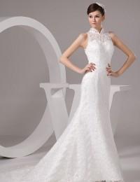 Ivory A-line Jewel Neck Beading Knee-Length Wedding Reception Dress