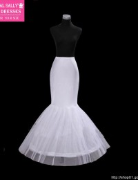 White Hoop Good Price And Quality Trumpet Mermaid Wedding Dress Petticoat Underskirt HL-324
