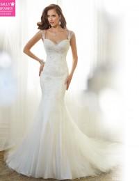 Amazing Lace Wedding Dress Sweetheart Sleeveless Sexy Backless Beaded Mermaid Wedding Dresses Vintage Wedding Dress 2015  M73