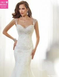 Mermaid Wedding Dress 2016 Vintage Wedding Gowns Vestido De Noiva Sereia Lace Bridal Dresses Robe De Mariage Casamento Sexy M73A