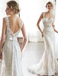 2015 New Sexy Marvellous Sweetheart Sash Backless Court Train Mermaid Wedding Dresses Lace Wedding Dress Vestidos De Novia MK-18