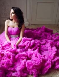 Royal Red A-Line Wedding Dresses Crystal Sash Vintage Wedding Gowns Lace Up Vestido De Noiva 2016 Photography Dress PH-41