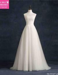 Vestido De Casamento A-Line Real Sample Beach Wedding Dress Robe De Mariage Lace Vinatge Wedding Dress Wedding Gonws 2015 BM-13