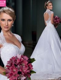 Vestido De Noiva 2015 Vestido De Casamento Vestido De Festa Longo Robe De Mariage Mariee Wedding Gowns Lace Wedding Dress A-214