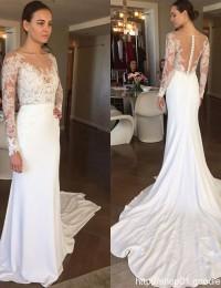 Long Sleeve Muslim Wedding Dress Vestido De Noiva Longo Vintage Wedding Dress Bridal Dresses Robe De Mariee Lace Backless W1162