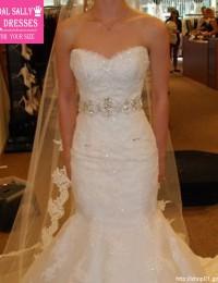 2016 Mermaid Wedding Dresses Vestido De Noiva Sereia Lace Wedding Gowns Strapless Elegant Bride Dresses Online Shop China W5877C