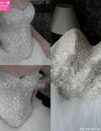 Bling Sumptuous Ball Gown Crystals Lace Up Vintage Wedding Dress Robe De Mariage Women Bride Dresses 2015 Vestido De Noiva MS136