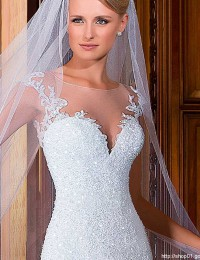 Long Veil Wedding Veil Bride Veil One Layer Soft Tulle Wedding Hair Accessories T-03
