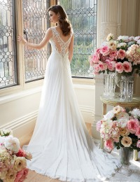 Sexy Deep V-Neck Beach Wedding Dresses Lace Wedding Gowns Chiffon Vintage Bride Dresses Vestido De Noiva 2016 New Arrival W1119B
