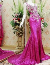 2015 Vestido de Fiesta Mermaid Royal Red Noble Sweetheart Sleeveless Beaded Sparkling Crystals Long Sequined Prom Dresses MF036