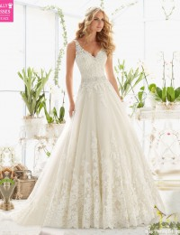 New Design A-Line Lace Wedding Dresses 2016 V-Neck Beaded Sash Backless Sexy Vintage Wedding Gowns China Online Shop W12245