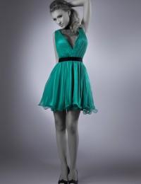 2014 Enthusiastic Sleeveless Dark Green Lace Short Mini Cocktail Dresses Women Dance Party Dresses Chiffon CO1032