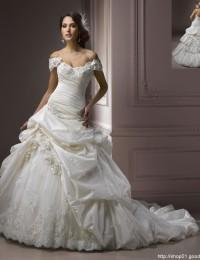 Elaborate Ivory Removable Straps Beaded Ruffles Sweetheart Lace Wedding Dress Wedding Empire Mermaid Satin Wedding Gowns JK07