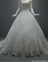 Charming A-Line Off The Shoulder See Through Long Sleeves Chapel Train Lace Up Lace Wedding Dress 2015 Vestido De Noiva MK-31