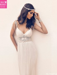 Wedding Dress 2016 Luxury Beading Beach Wedding Dresses Gowns Vestido De Noiva Robe De Mariage Vintage Wedding Dress Sexy W02241