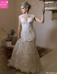 Stunning Mermaid Wedding Dresses 2016 Luxury See Through Lace Wedding Dress Vestido De Casamento Shopping Sales Online W1124B