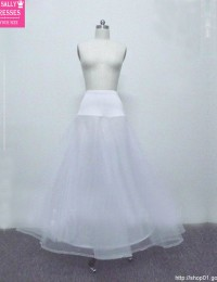 Custom Made White 1-Hoop A-line Crinoline Petticoat Accessories Bridal Underskirt HL-326