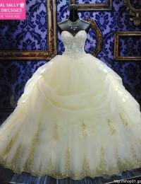 2015 Royal Puffy White Sweetheart Bandage Long Chapel Train Lace Bridal Wedding Dresses with Crystal WD-29