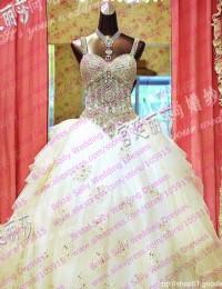 Wedding Dress 2015 Nectarean Slarkling Lace Up Vintage Wedding Dresses Long Train Wedding Gowns Robe De Mariee W5877L